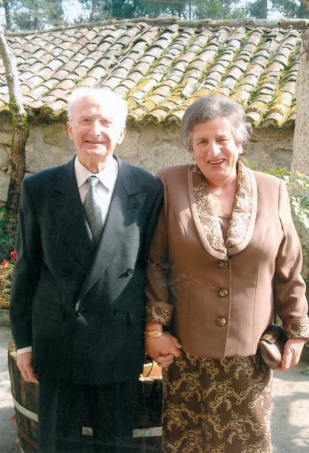 Julián y Pilar. Bodas de oro. Curuxeiras, 6 de marzo de 2004.