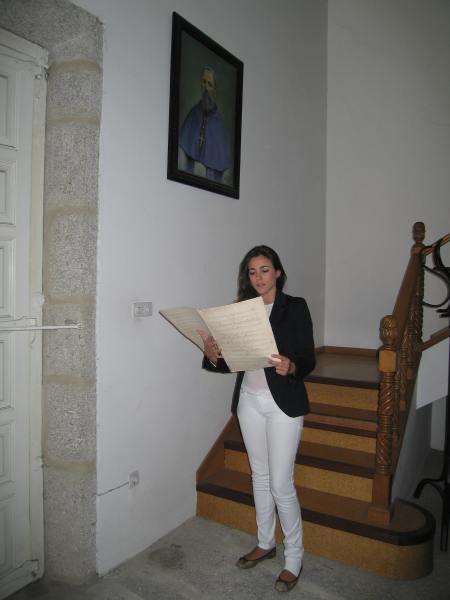 Andrea en el Archivo
