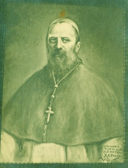 Retrato del P. Salvado hecho por R. Padín.