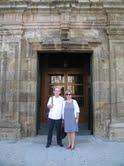 Jesús y su esposa Conchita. (Entrade la iglesia de S. Francisco. Tui)