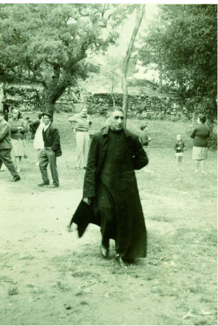 """D. Basilo. Monte de """"San Julián"""". Festa das Angustias, 2 de xullo de 1967. Foto tirada por Telmo Diz Martínez."""