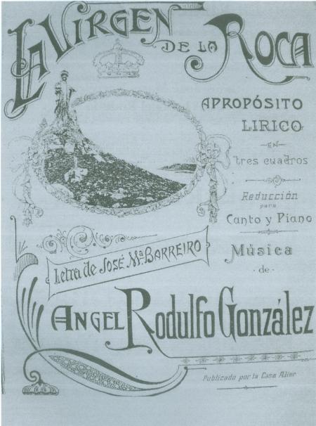 Portada de la obra musical conservada en el Archivo Musical de la catedral de Tui