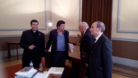 Tras la disertación: Juan Luis, los profesores José Paulo Leite, José Marques y José de Silva